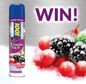 Get involved on our Facebook competition to be in with a chance to win a FREE 1001 Carpet Fresh Frosted Winter Berries can!