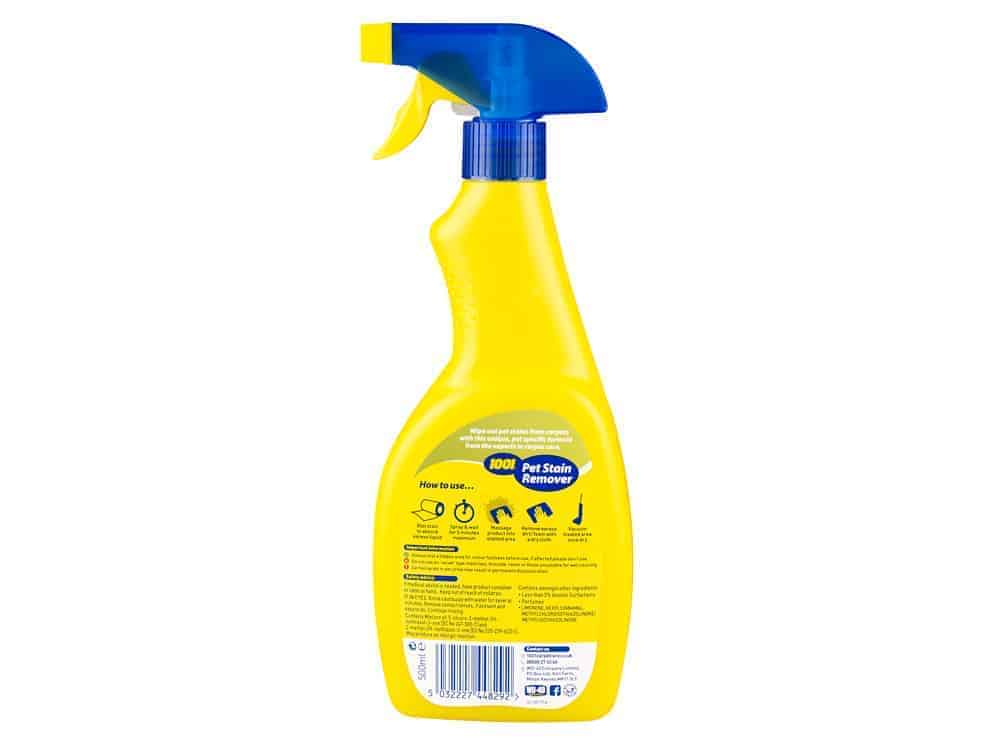 products pet stain remover back