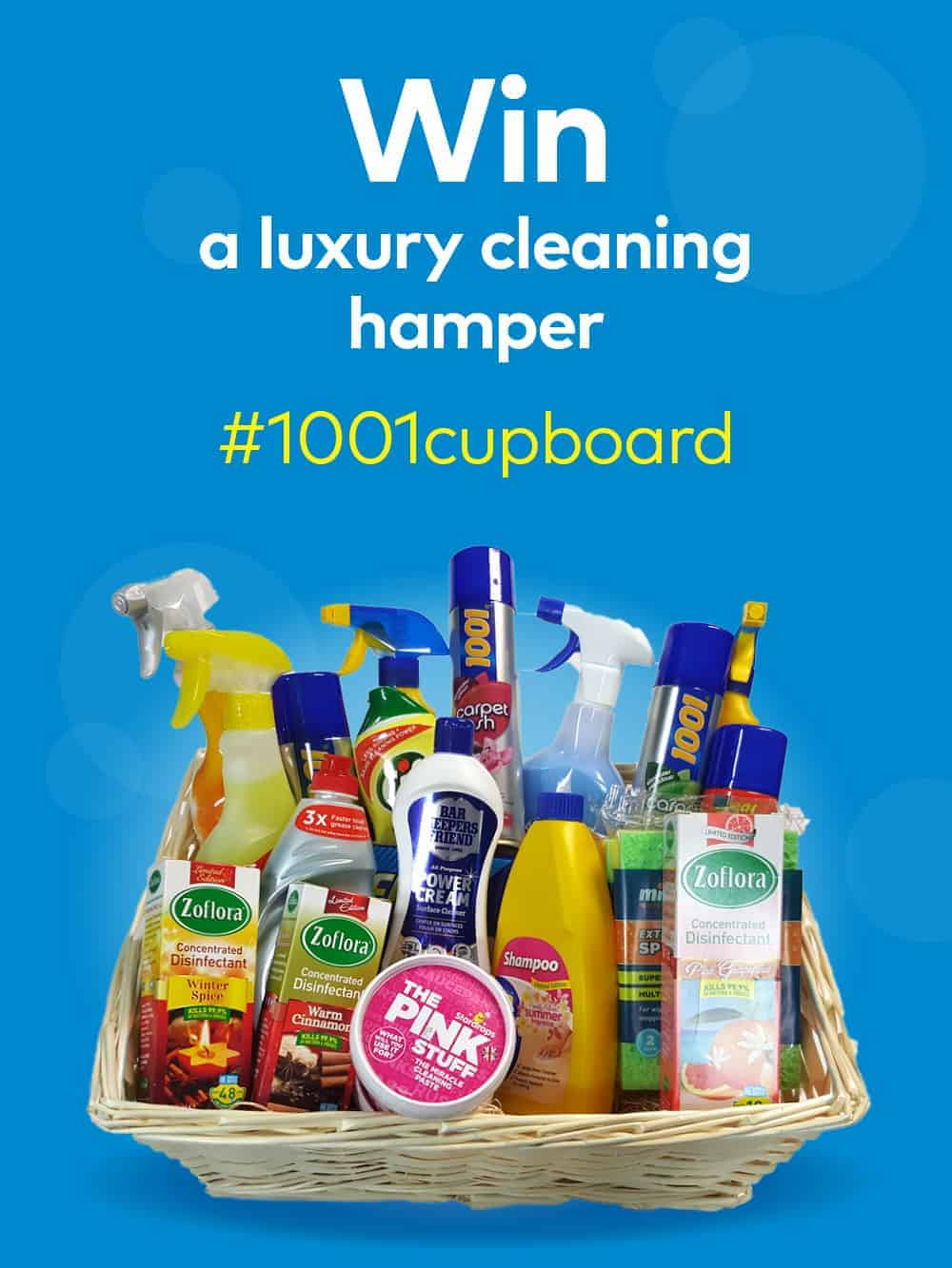 Win a luxury hamper containing carpet cleaning products and loads more