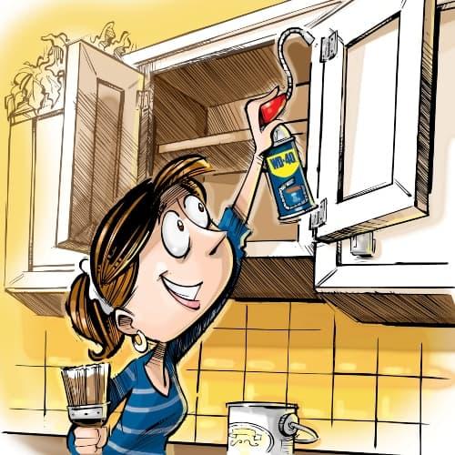 Нанесете новата смазка, след добре почистените повърхности
