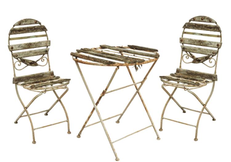 průvodce krok za krokem k odstranění rzi z kovaného nábytku