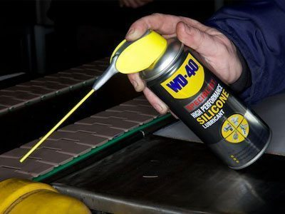Usage shot of WD-40 High Performance Silicone