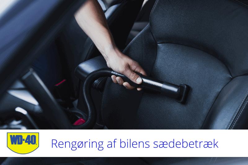 rengøring af bilens sædebetræk