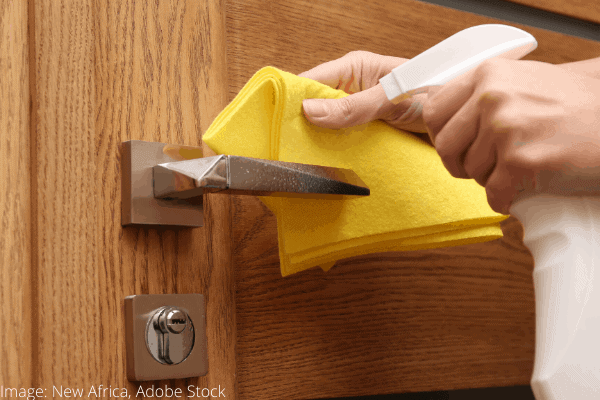 clean doorknobs easily