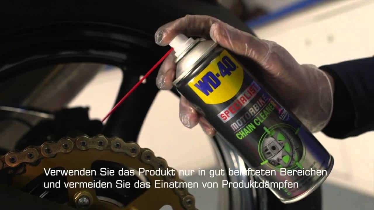 Motorradkette-reinigen