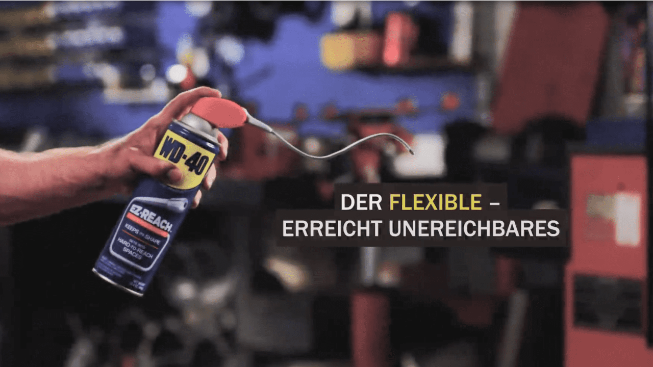 wd 40 flexible video erreicht unerreichbares