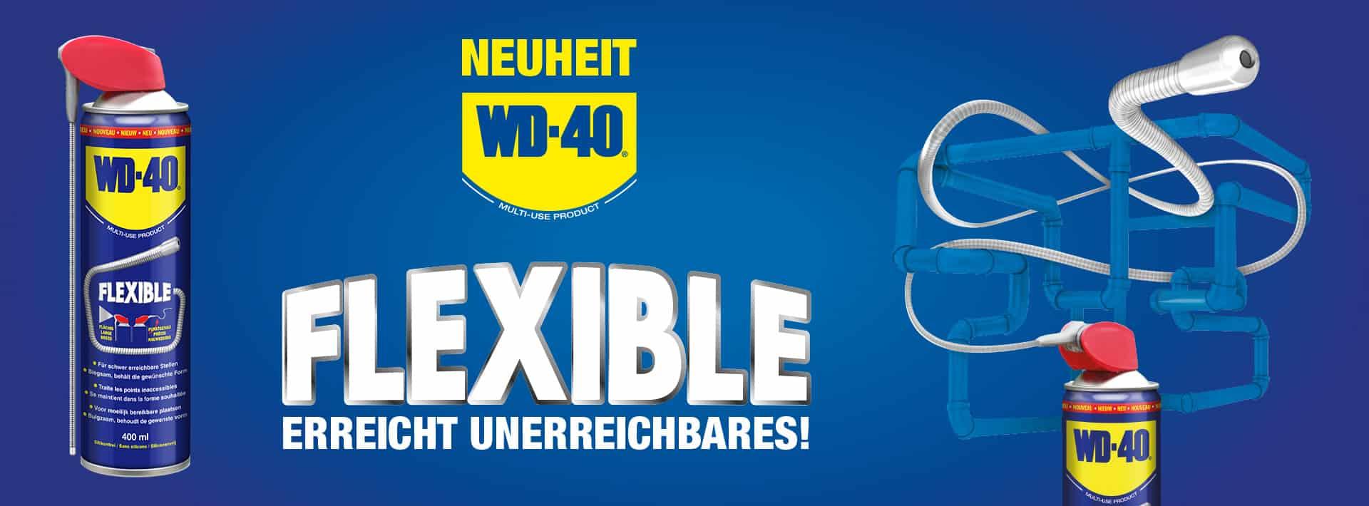 wd 40 flexible banner erreicht unerreichbares