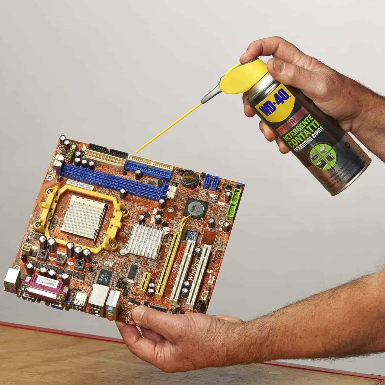 wd 40 kontaktspray motherboard