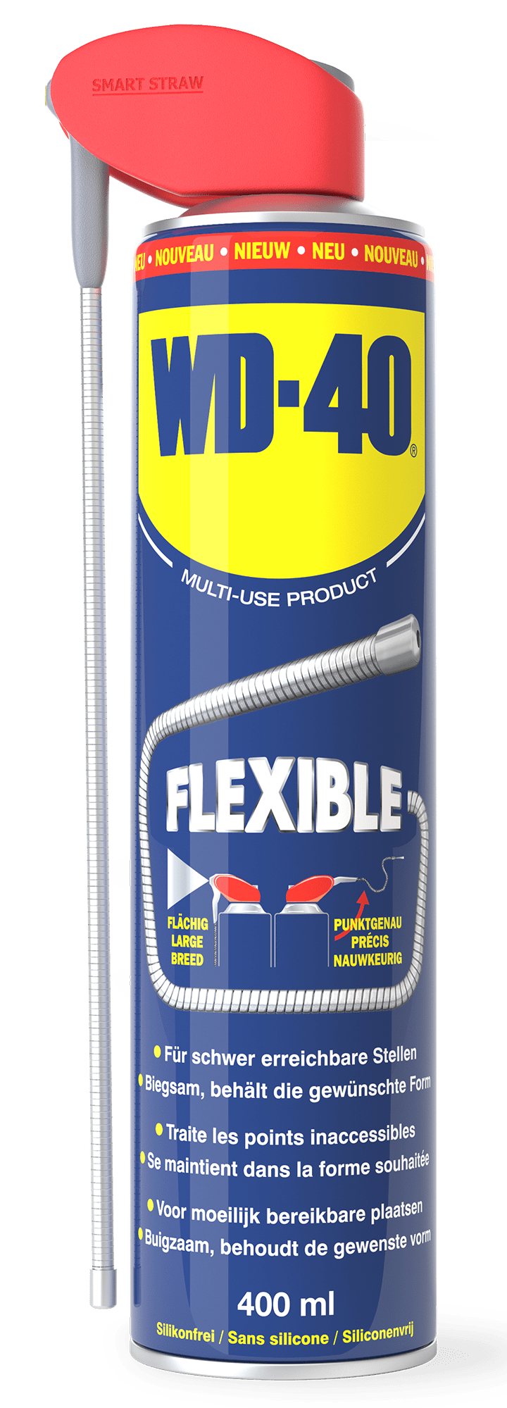 wd40 flexiblestraw400ml benelux transparent