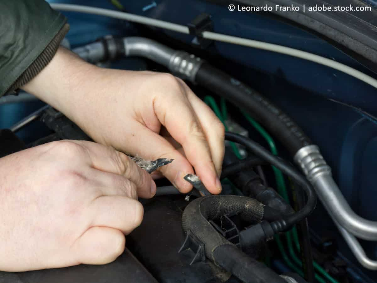 den motor wieder starten defekte kabel