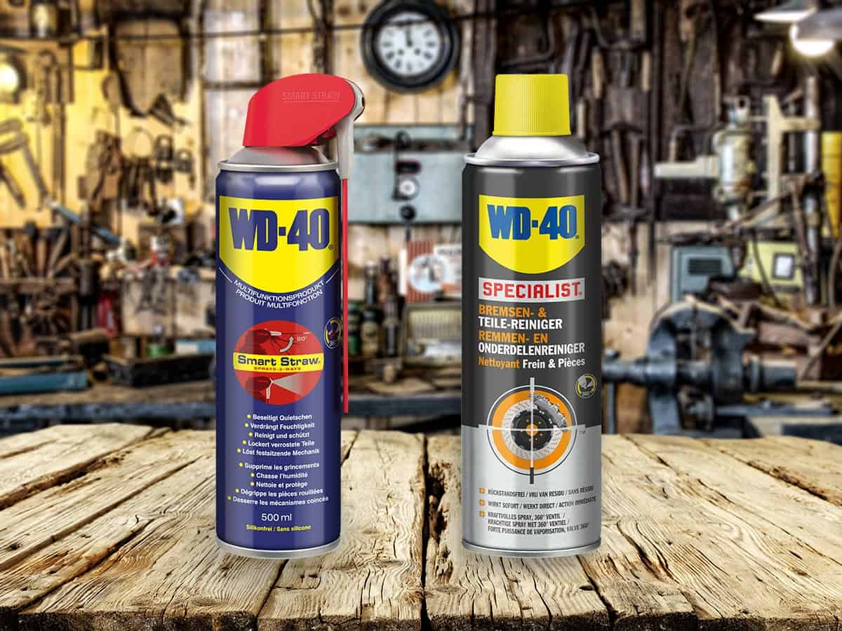 WD-40 Multifunktionsprodukt und WD-40 SPECIALIST Bremsenreiniger