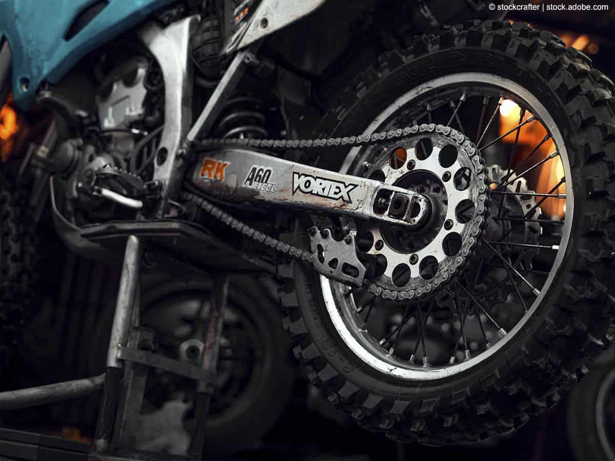 motorrad aufstellen