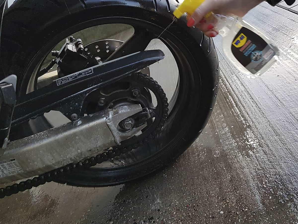 motorradfelgen reinigen