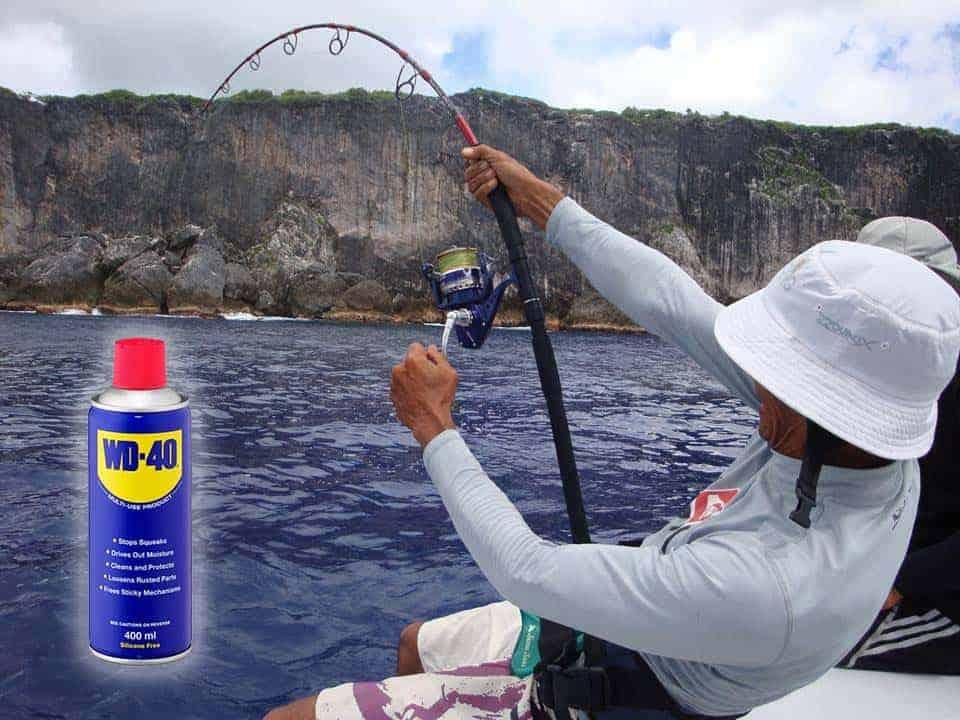 επισκευή του καλαμιού ψαρέματος