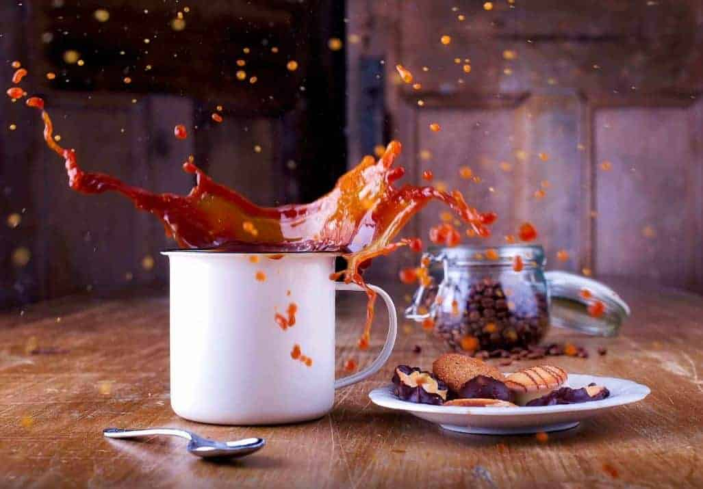λεκέδες από καφέ