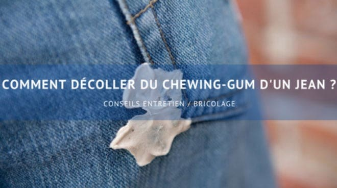 comment decoller du chewing gum