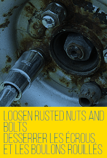 Loosen Rusted Nuts