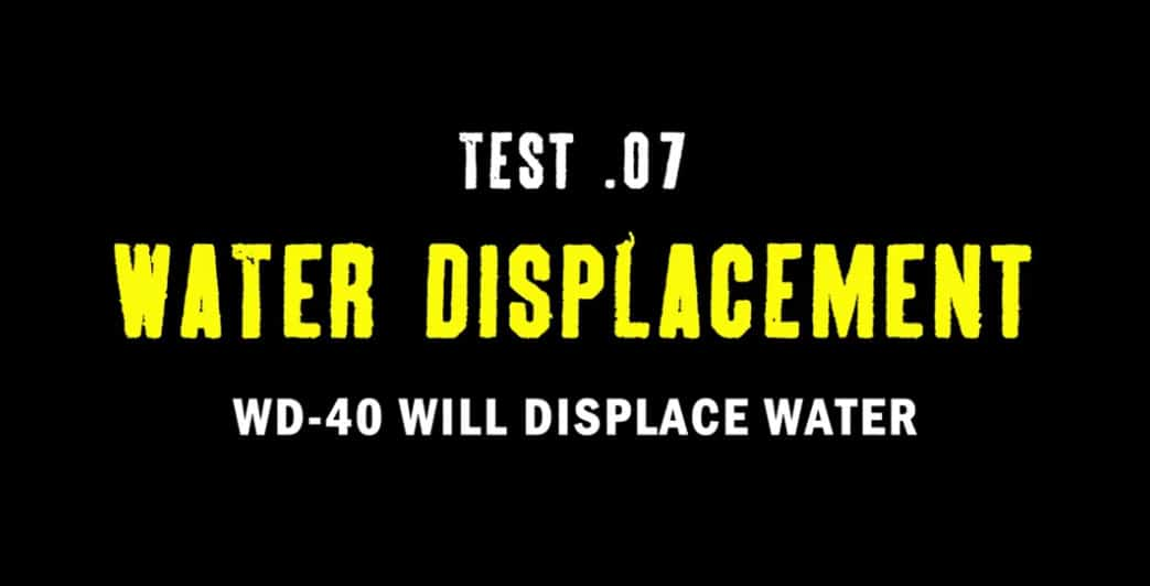 test 7 water displacement