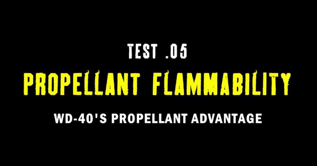 test 5 propellant flammability