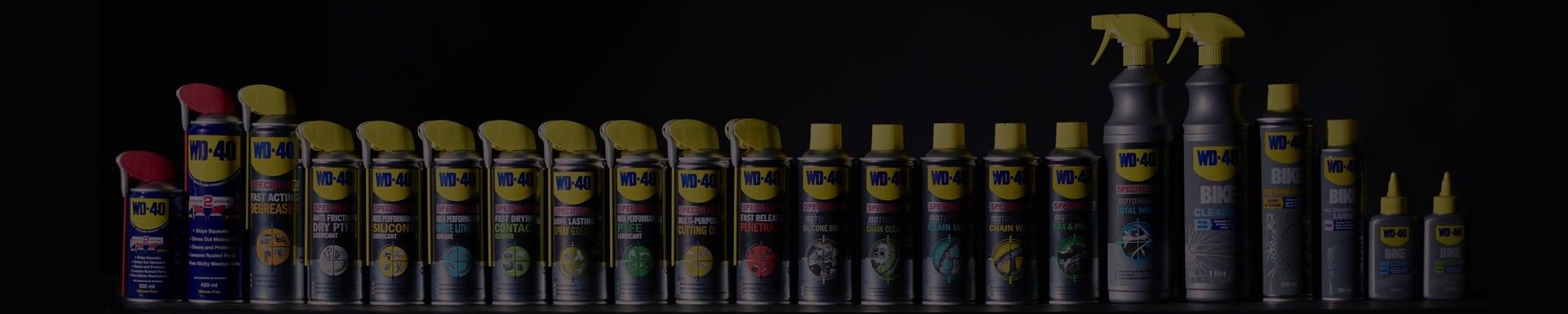 wd 40 product range banner