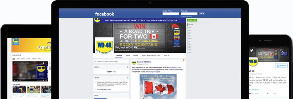 Connect with WD-40 UK via Social Media.