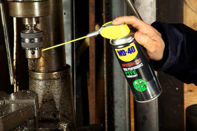 WD-40 Specialist Hi Performance lube on drills