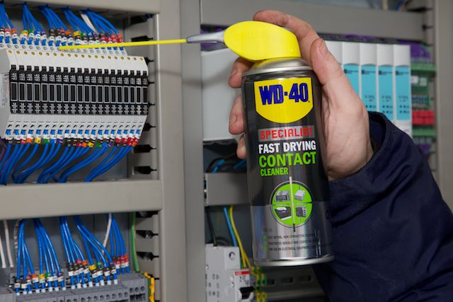 WD-40 Specialist Contact Cleaner on fusebox