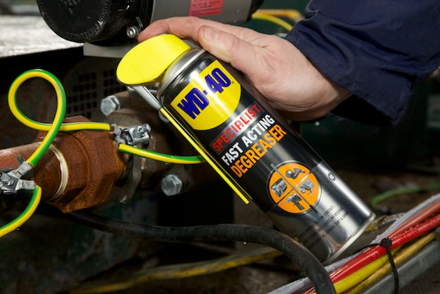 WD-40 Specialist Degreaser on engines