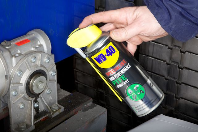 WD-40 Specialist Hi Performance lube in industry