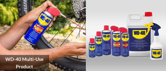Family shot of WD-40 'Multi-Use Products'