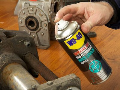 WD-40 Specialist White-Lithium-Grease wide spray on bolts