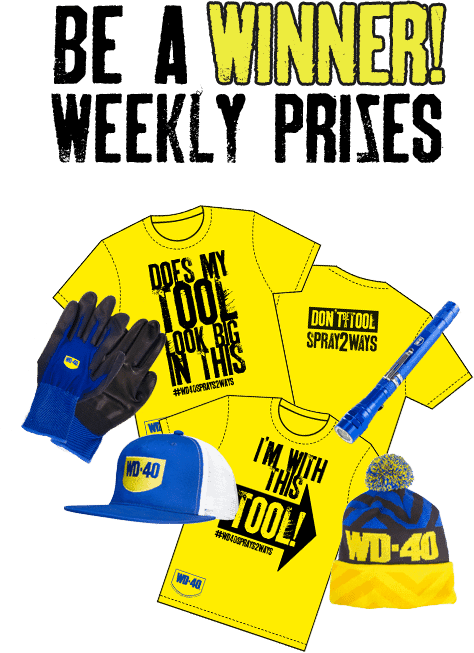 Are you the Face of WD-40 advertising campaigns weekly prizes border=