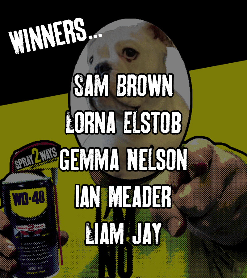 WD40 Prize Winners May