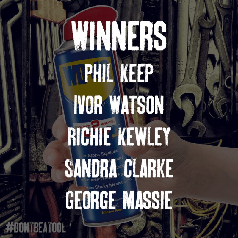 Don't be a Tool winners 21 may