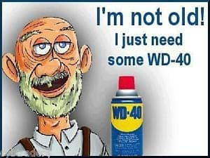 lubricating old man wd40