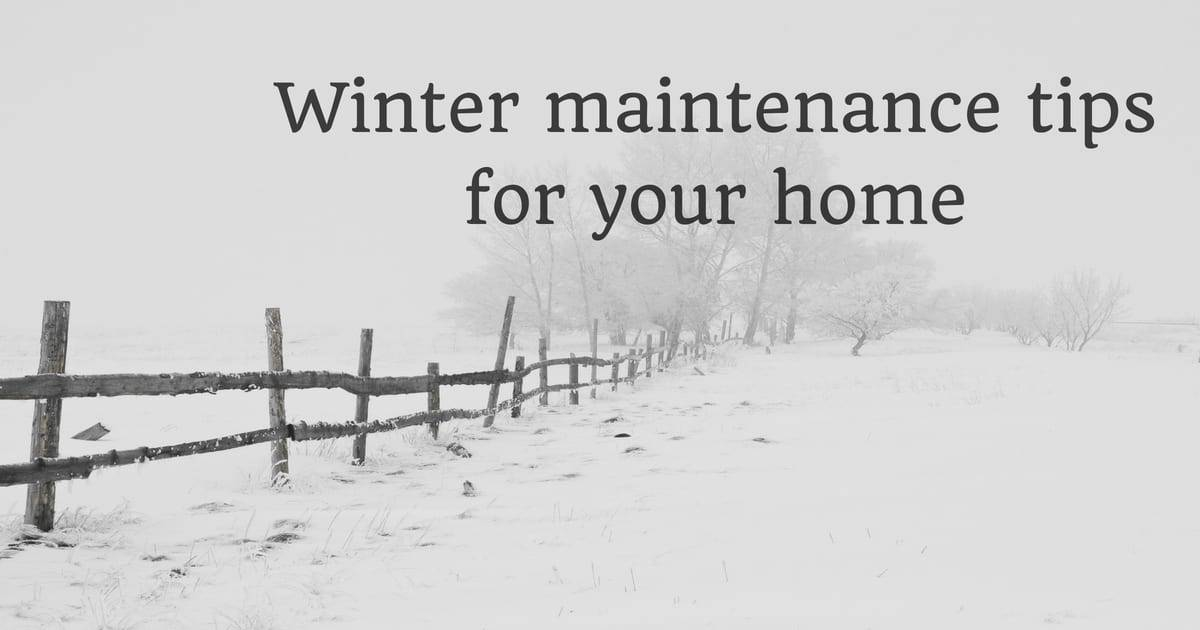 winter maint for home