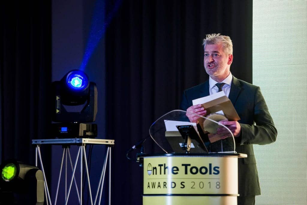 wd 40s david whittome anouncing on the tools carpenter of the year award