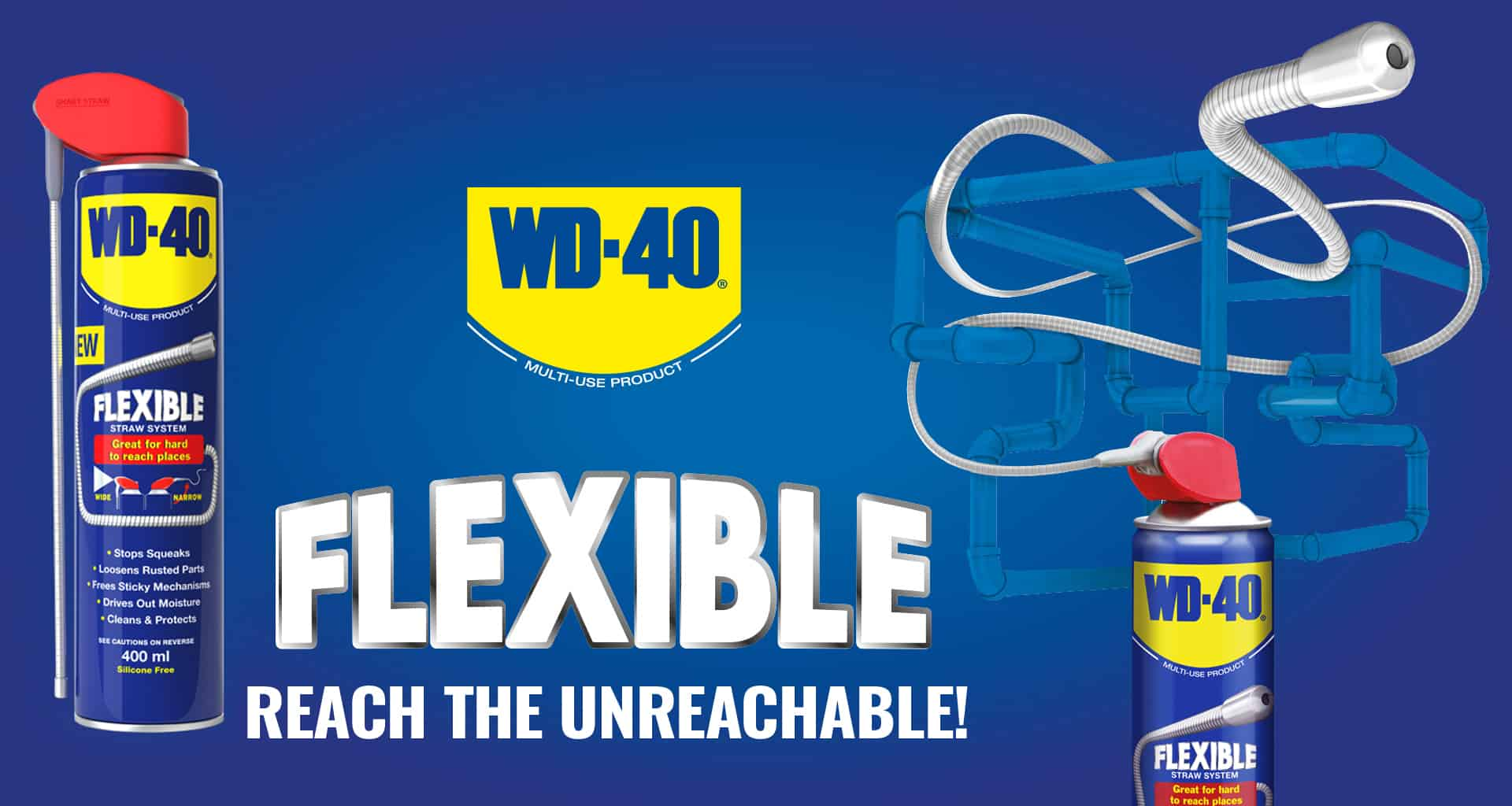 WD-40 Flexible... Reach the unreachable!