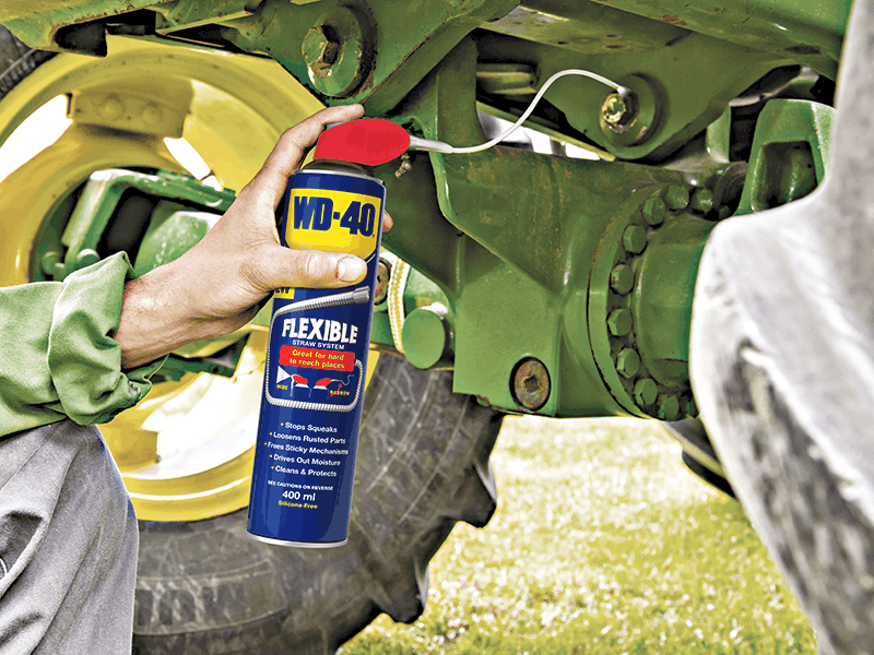 WD-40 Multi-use product with a flexible straw