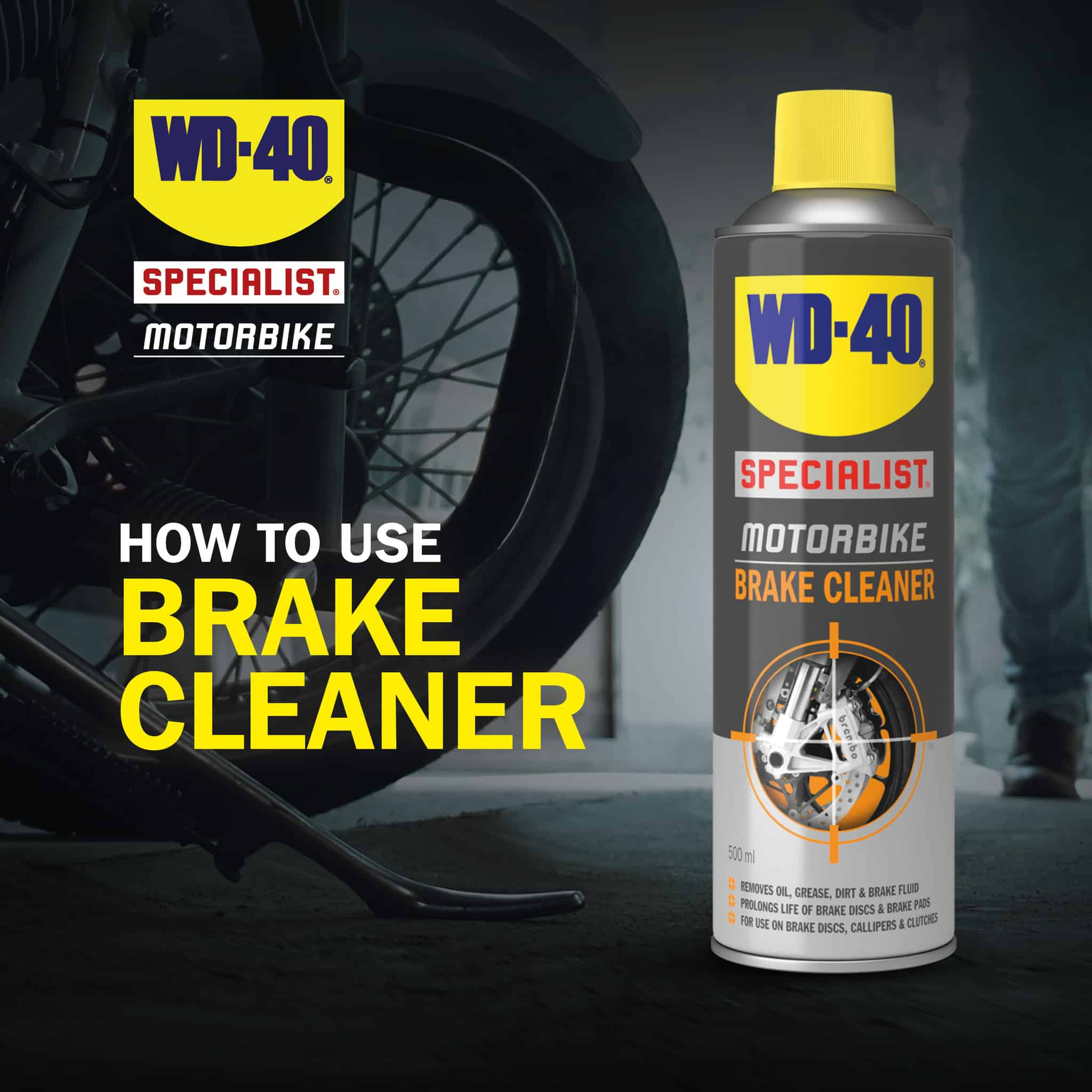 wd40 motorbike brake cleaner how to use part 1