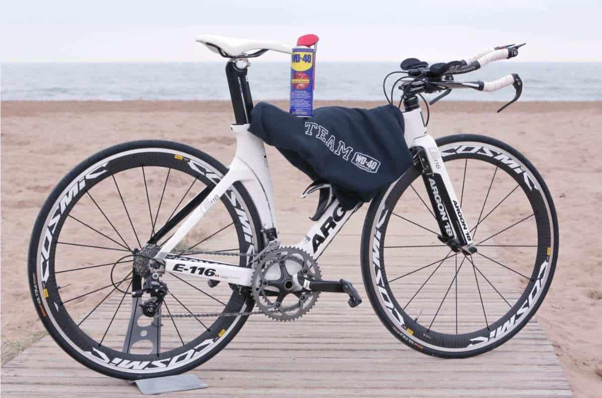 mantenimiento de la bici con wd 40