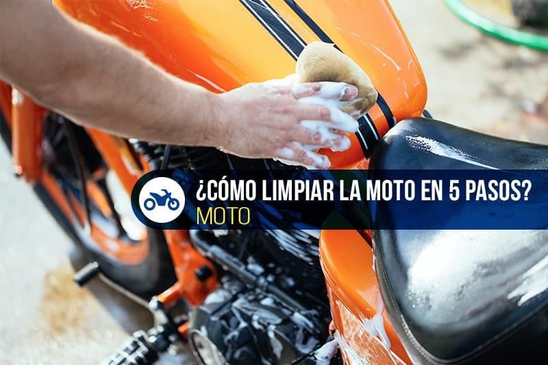 cómo limpiar la moto en 5 pasos