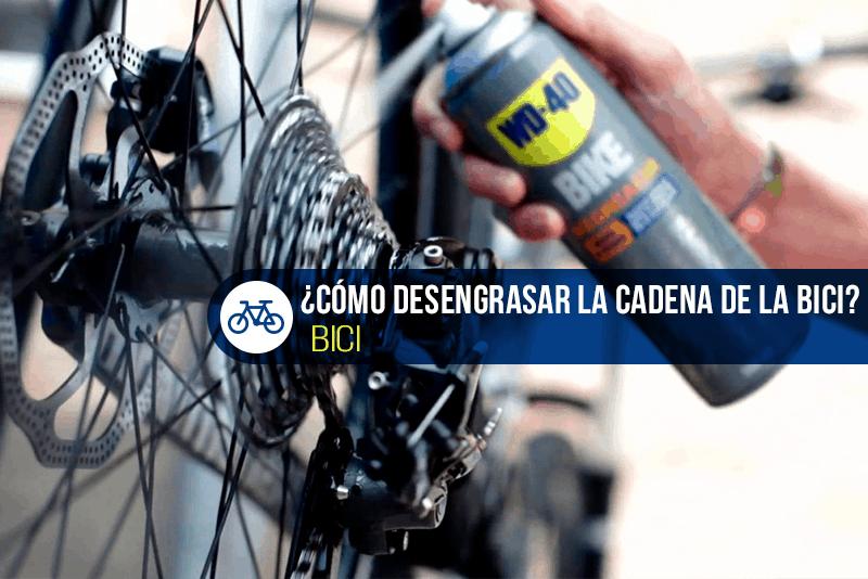 cómo desengrasar la cadena de la bici