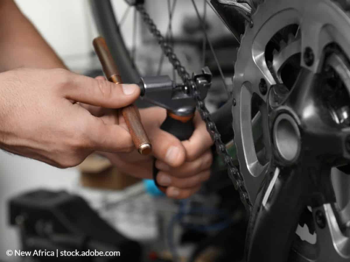 desmontar cadena de bicicleta
