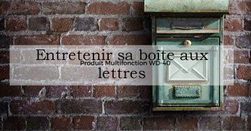 Boite aux lettres : l'entretien facile avec le WD-40 Multifonction