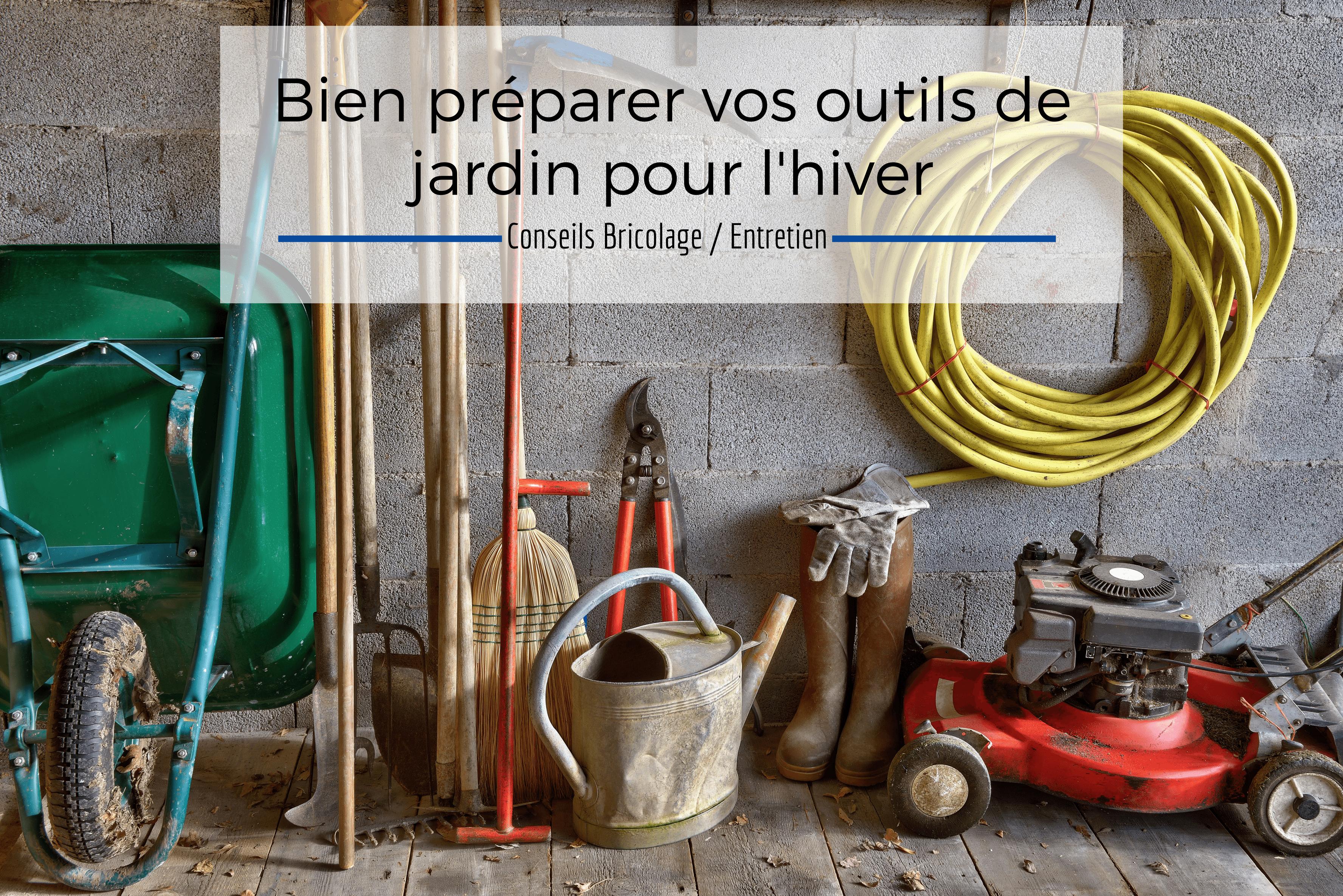 protéger ses outils de jardin, hivernage, jardin, tondeuse, tronçonneuse, débroussailleuse