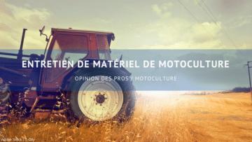 entretien de matériel de motoculture