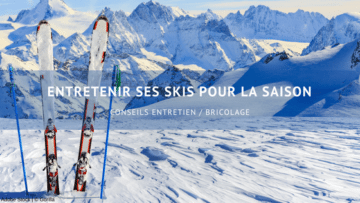entretenir ses skis pour l'hiver