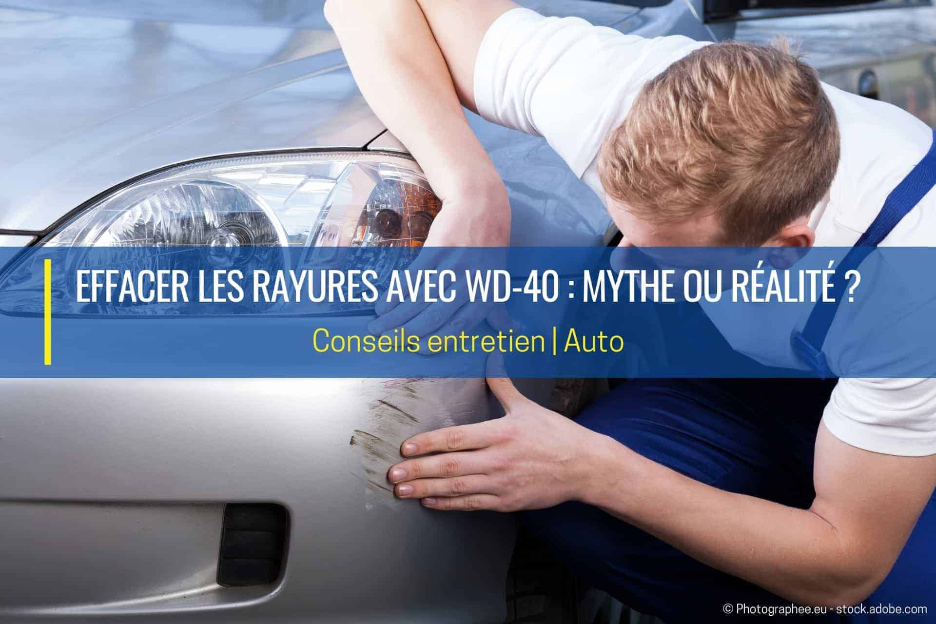 effacer les rayures avec wd40