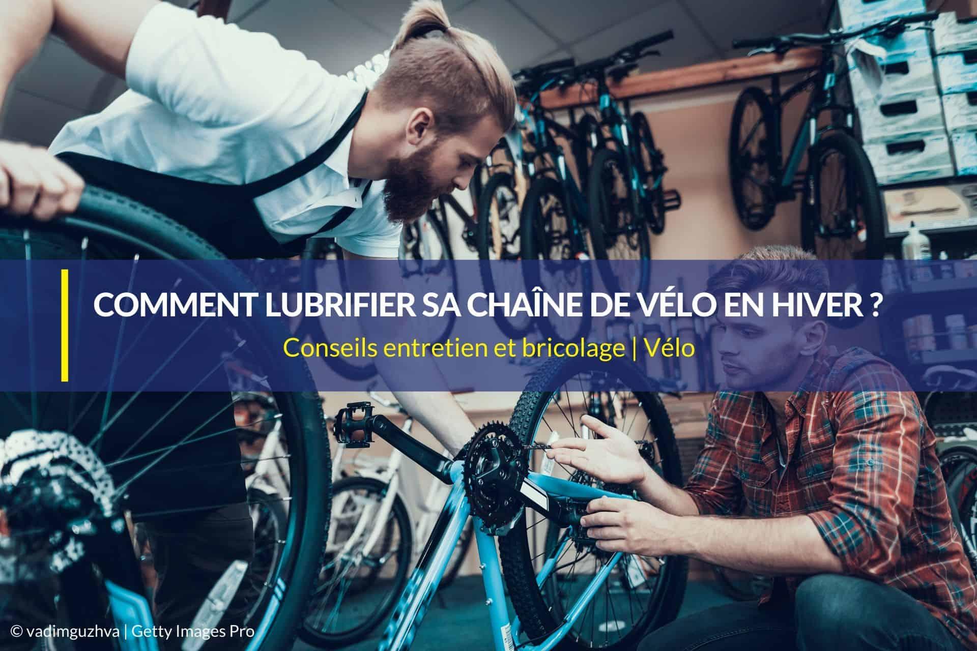 lubrifier chaine vélo hiver